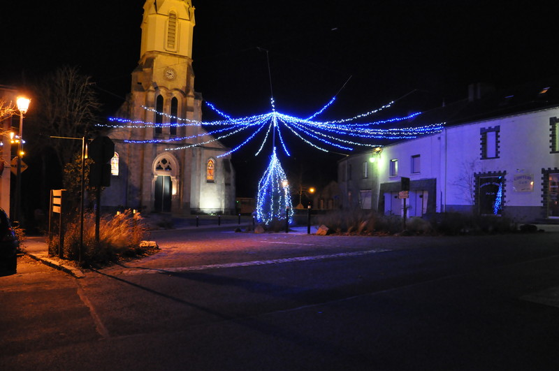 Guirlandes lumineuses bleues et blanches adico for Illumination noel projecteur