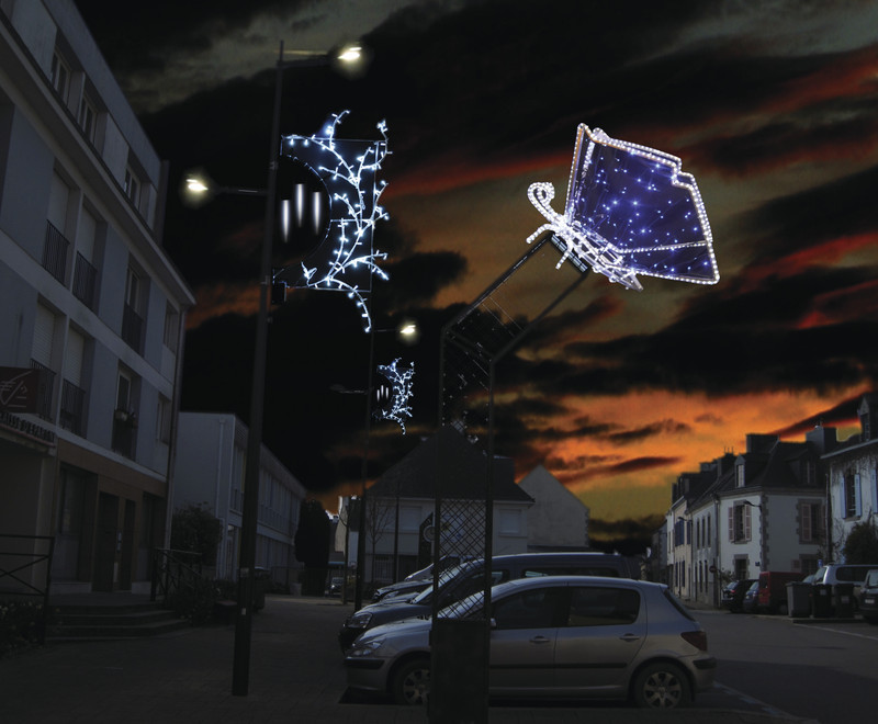 D cor cand labre globe adico for Illumination noel projecteur
